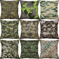 "18"" Camouflage pattern Cotton Linen Waist Home Decor pillow case Cushion Cover"
