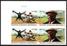 USA Sc. 4466a 44c Negro Leagues Baseball 2010 MNH plate block
