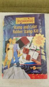 Disney Pocahontas Stamp and Color Rubber Stamp Kit Sealed New In Box!