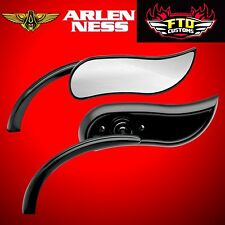 Arlen Ness Mirror Upswept Black Right Side 13-405