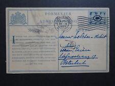 Netherlands 1922 Postal Card Used / Light Creasing - Z8691