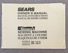 Sears Sewing Machine Models 385.12116 385.12812 Owner's Manual