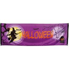 Pc. Banner Midnight Moon Witch Halloween (74 X 220 Cm)