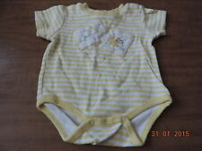 Infant unisex one piece baby rhymes yellow stripes Size 3-6 months