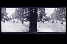 Paris France Mode Chapeau Plaque de verre stereo NEGATIF 1911