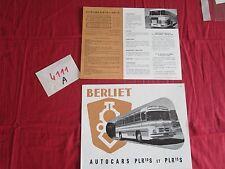 N°4111 A    / BERLIET : prospectus  autocar PLR 10 S et PL 15 S / P.1530.9-55