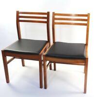 Pair of Retro Danish Style Teak Dining Chairs [ 5852 B ]
