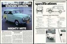 1952 Crosley Super Station Wagon Car Review Report Print Article PE97