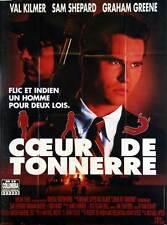 Affiche 120x160cm COEUR DE TONNERRE /THUNDERHEART 1991 Val Kilmer, Shepard TBE