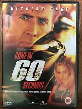 Nicolas Cage Jolie Gone in 60 seconds ~2000 AUTO Chase Extravaganza UK DVD