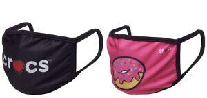 NEW Crocs Donut Cloth Reusable Fashion Face Masks 2PK BNWT