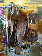 "14"" Heiser Western saddle, circa 1930"