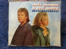 Chris Norman Suzi Quatro 1-track Promo CD I Need Your Love - smokie related