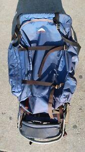 Vintage Jansport External Frame Blue Backpack
