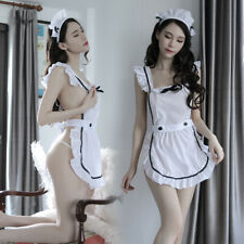 Sexy Women Halloween Costume Cosplay French Maid Lingerie Outfit Fancy Dress Set