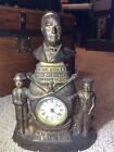 Vintage William McKinley Cast Iron Front Mantle Clock