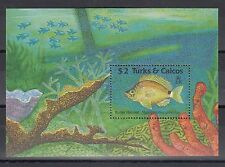 TIMBRE STAMP BLOC TURKS & CAICOS  Y&T#83 POISON FISH NEUF**/MNH-MINT 1990 ~A37