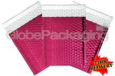 100 x SHINY METALLIC GLOSS HOT PINK FOIL BUBBLE PADDED ENVELOPES BAGS 180x250mm