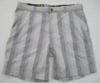 Mens 38 Lululemon white gray plaid shorts