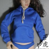 1:6 Scale ace Female figure parts - Blue hoody hoodie Street style Free Ship
