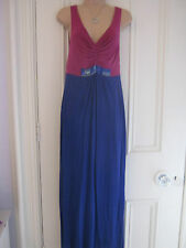 Gorgeous Boden 8R sleeveless lined maxi dress vivid pink & blue jersey material