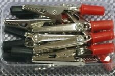 12 CROCODILE / ALLIGATOR CLIPS SHOCKPROOF Insulated Electrical Lead Croc Battery
