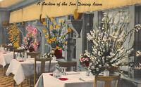 Dining Room of the Santa Maria Inn, Santa Maria, CA., Early Postcard, Unused