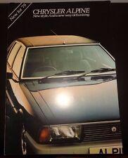 CHRYSLER ALPINE BROCHURE 1978