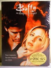 BUFFY THE VAMPIRE SLAYER SARAH MICHELLE GELLAR DVD SET SEASON 2 NEW SEALED +BOOK