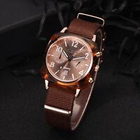 Fashion Canvas Strap Men's Watch Luxury Analog Quartz Sport Army Wristwatch Gift