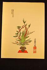 Meiji Era (Nov, 1903) Japanese Woodblock Ikebana Print # 2