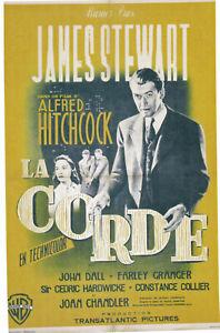 LA CORDE - J.STEWART - A.HITCHCOCK- 1948 - WB - 60 X 80 cm