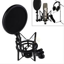 Professional Microphone Mic Shock Mount Holder with Shield Filter Screen Kit