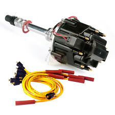 Chevy SBC 350 BBC 454 HEI Distributor & Spark Plug Wires Ignition Combo Kit