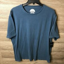 Lucky Brand Mens Size 2XL Indian Teal Short Sleeve Sunset Crew Neck Tee NWT