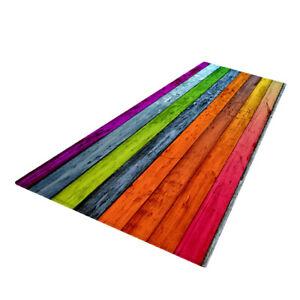 Rustic Runner Rug Floor Mat Modern Home Strip Rug Orange(60x180cm)