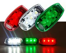 Clip On LED Safety Warning Strobe Light Bicycle ATV Jogging Marine Boat Kayak