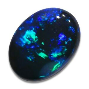 0.80 ct Schwarzer Opal aus Lightning Ridge - Australien mit Farbe Blau Edelopal