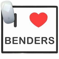 I Love Corazón Benders - Fino Pictoral Plástico Ratón Libreta Tapete BadgeBeast