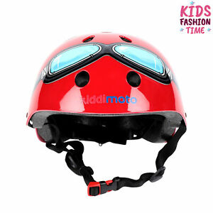 KIDDIMOTO Helmet Size S 390Gr Printed Goggles Front Adjustable Fitting