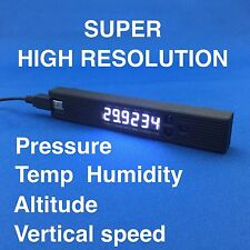 6-Digits PRECISION Barometer Thermometer Hygrometer Altimeter white LED JAPAN
