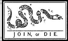 Join or Die Historical Flag Snake 3x5 Polyester