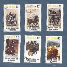 Poland Scott #'s 2370-2375 - Horse Paintings - Set of 6 - 1980 - OG - Canceled