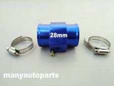 28mm Water Temp Temperature Joint Pipe Sensor Gauge Radiator Hose Adapter BLUE