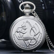 Fullmetal Alchemist Edward Elric Matte Necklace Pocket Watch Chain Full Hunter B