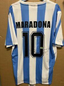 Signed Diego Maradona Argentina shirt with Coa