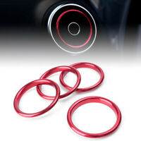 4 pcs Interior Red Air Vent Cover Outlet Ring Audi A3 8V 2012 203 2014-2019 New