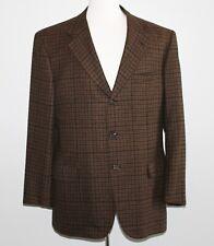 100% Cashmere BRIONI Blazer 44R 44 Regular BROWN Check HOUNDSTOOTH Surgeon Cuffs