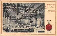 Wartburg Castle Germany Dining Room Interior View Antique Postcard J48041