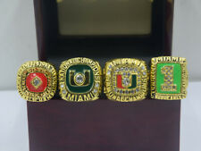 4PCS 1983 1989 1991 2001 Miami Hurricanes National Championship Ring !